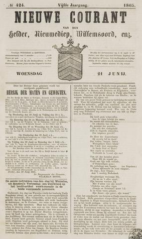 Nieuwe Courant van Den Helder 1865-06-21