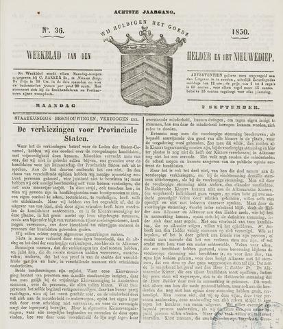 Weekblad van Den Helder en het Nieuwediep 1850-09-02
