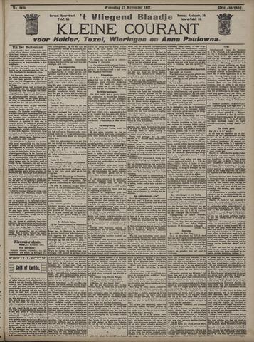 Vliegend blaadje : nieuws- en advertentiebode voor Den Helder 1907-11-13