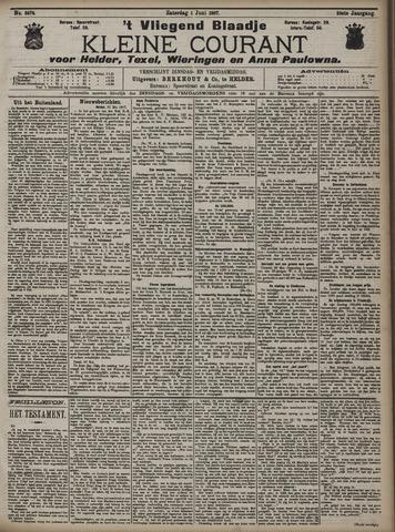 Vliegend blaadje : nieuws- en advertentiebode voor Den Helder 1907-06-01