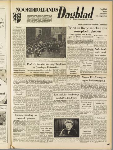 Noordhollands Dagblad : dagblad voor Alkmaar en omgeving 1953-11-09