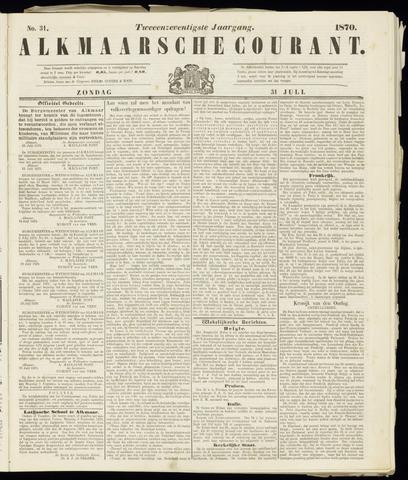 Alkmaarsche Courant 1870-07-31