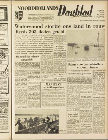Noordhollands Dagblad : dagblad voor Alkmaar en omgeving 1953-02-02