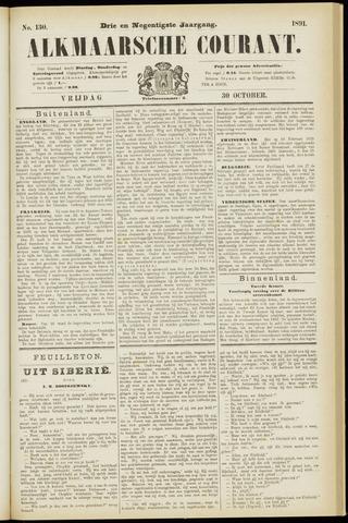 Alkmaarsche Courant 1891-10-30