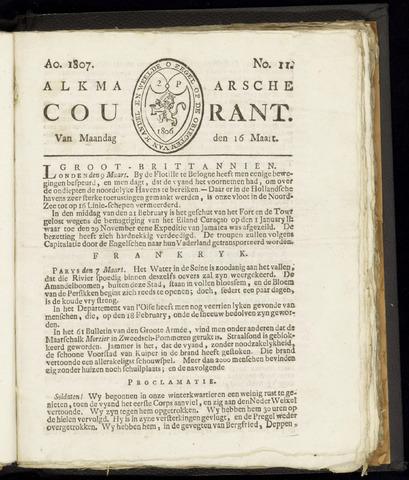 Alkmaarsche Courant 1807-03-16