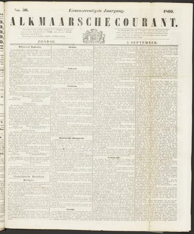 Alkmaarsche Courant 1869-09-05