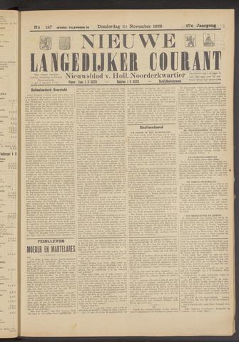 Nieuwe Langedijker Courant 1928-11-22