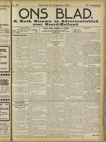 Ons Blad : katholiek nieuwsblad voor N-H 1912-08-31