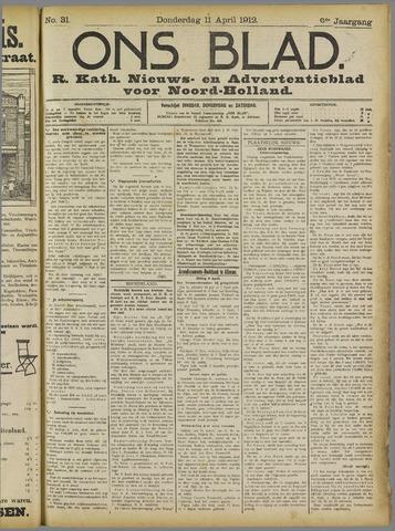 Ons Blad : katholiek nieuwsblad voor N-H 1912-04-11