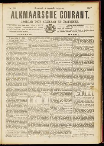 Alkmaarsche Courant 1907-04-27