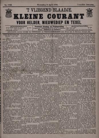 Vliegend blaadje : nieuws- en advertentiebode voor Den Helder 1884-04-09