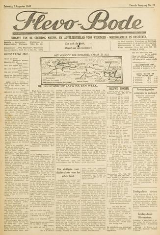 Flevo-bode: nieuwsblad voor Wieringen-Wieringermeer 1947-08-02