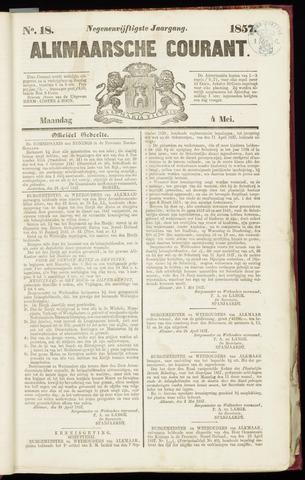 Alkmaarsche Courant 1857-05-04