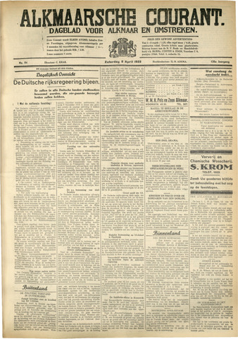 Alkmaarsche Courant 1933-04-08