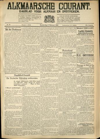 Alkmaarsche Courant 1933-02-02