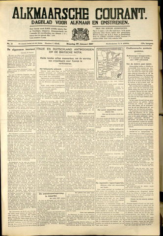 Alkmaarsche Courant 1937-01-26