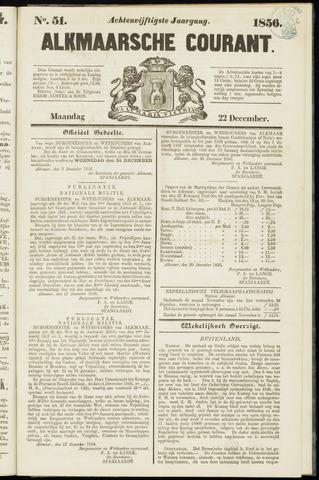 Alkmaarsche Courant 1856-12-22