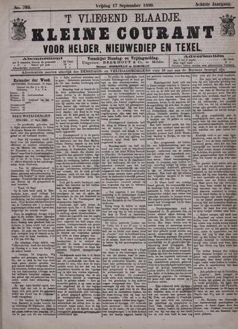 Vliegend blaadje : nieuws- en advertentiebode voor Den Helder 1880-09-17
