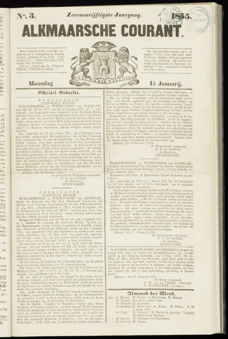Alkmaarsche Courant 1855-01-15