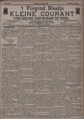 Vliegend blaadje : nieuws- en advertentiebode voor Den Helder 1890-04-23