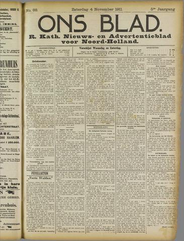 Ons Blad : katholiek nieuwsblad voor N-H 1911-11-04