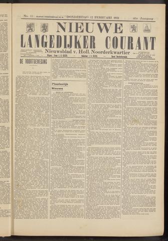 Nieuwe Langedijker Courant 1931-02-12