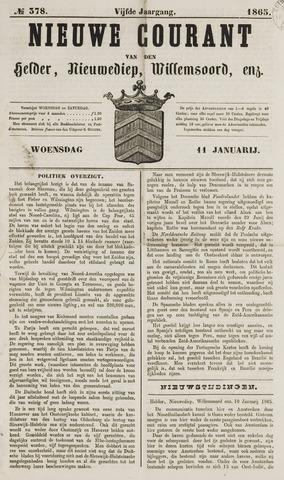 Nieuwe Courant van Den Helder 1865-01-11