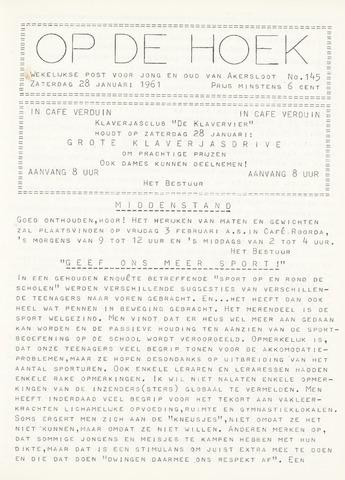 Op De Hoek, weekblad voor Akersloot 1961-01-28