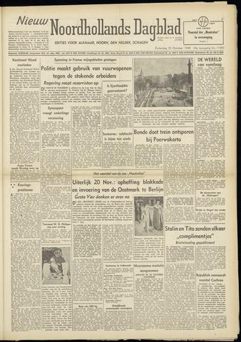 Nieuw Noordhollandsch Dagblad : voor Alkmaar en omgeving 1948-10-23