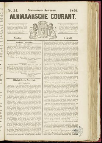 Alkmaarsche Courant 1859-04-03