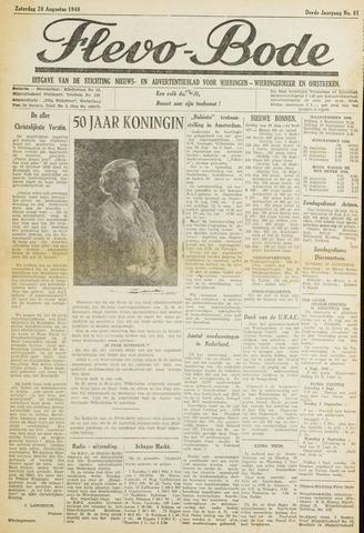Flevo-bode: nieuwsblad voor Wieringen-Wieringermeer 1948-08-28