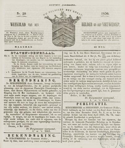 Weekblad van Den Helder en het Nieuwediep 1850-05-13