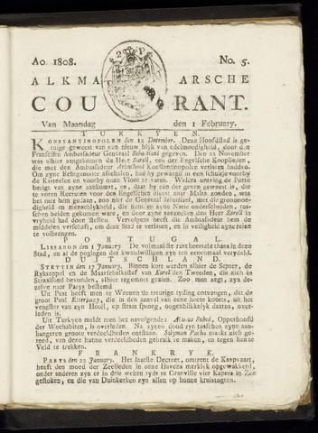 Alkmaarsche Courant 1808-02-01