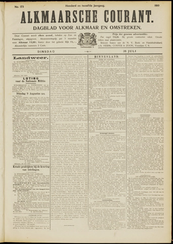 Alkmaarsche Courant 1910-07-26