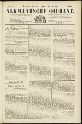 Alkmaarsche Courant 1889-07-03