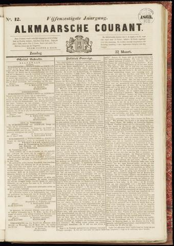 Alkmaarsche Courant 1863-03-22