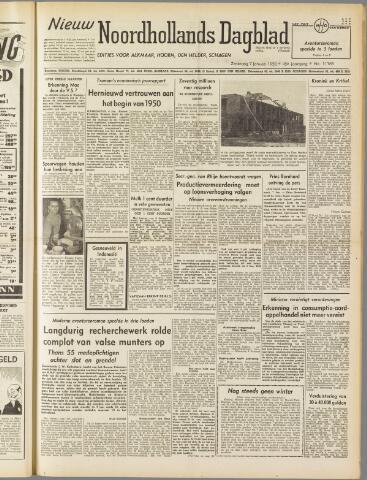 Nieuw Noordhollandsch Dagblad : voor Alkmaar en omgeving 1950-01-07