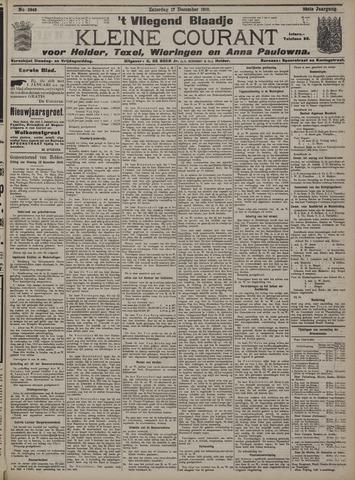 Vliegend blaadje : nieuws- en advertentiebode voor Den Helder 1910-12-17