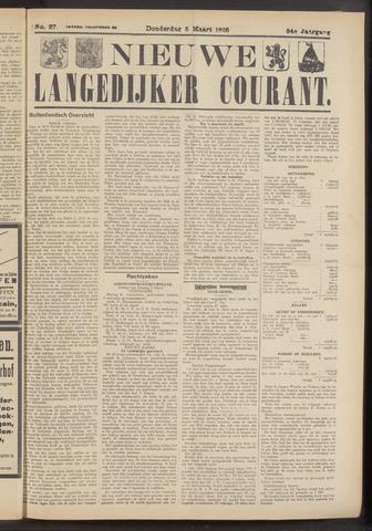 Nieuwe Langedijker Courant 1925-03-05