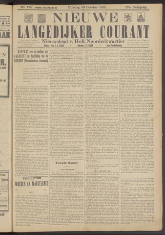 Nieuwe Langedijker Courant 1928-10-23