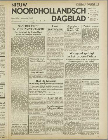 Nieuw Noordhollandsch Dagblad : voor Alkmaar en omgeving 1945-08-01