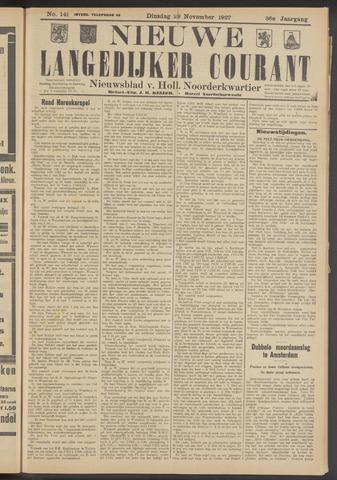 Nieuwe Langedijker Courant 1927-11-29