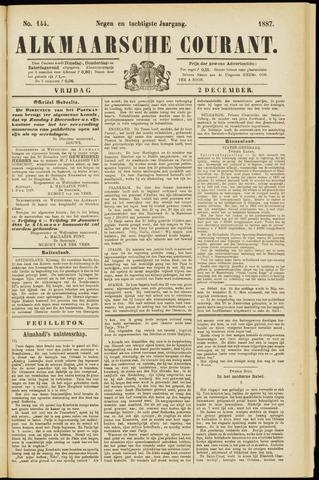 Alkmaarsche Courant 1887-12-02