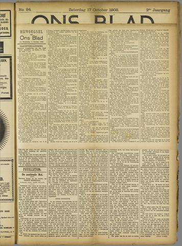 Ons Blad : katholiek nieuwsblad voor N-H 1908-10-17
