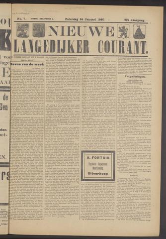 Nieuwe Langedijker Courant 1920-01-24
