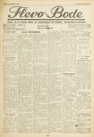 Flevo-bode: nieuwsblad voor Wieringen-Wieringermeer 1947-03-19