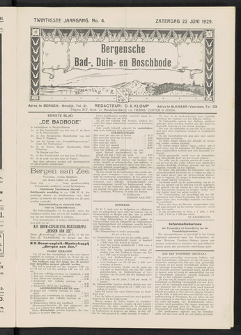 Bergensche bad-, duin- en boschbode 1929-06-22