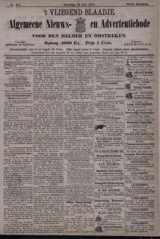 Vliegend blaadje : nieuws- en advertentiebode voor Den Helder 1875-07-24