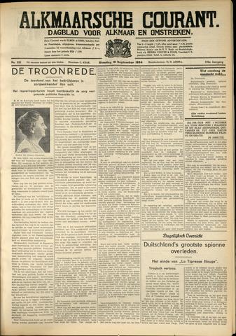 Alkmaarsche Courant 1934-09-18