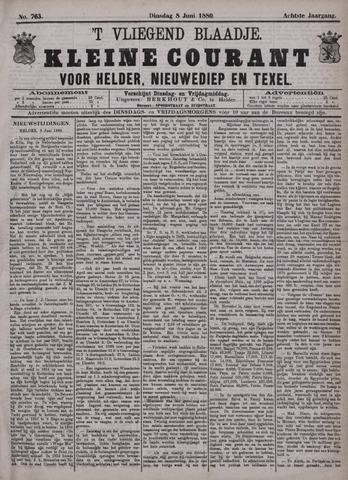 Vliegend blaadje : nieuws- en advertentiebode voor Den Helder 1880-06-08